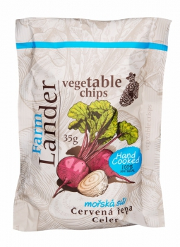 FRIED VEGETABLE CHIPS(REDBEET AND CELERY) WITH SEA SALT