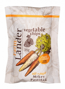 FRIED VEGETABLE CHIPS(CARROT AND PARSNIP) WITH SEA SALT AND BLACK PEPPER